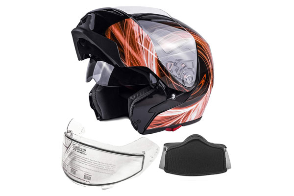Typhoon Dual Visor Modular Snowmobile Helmet